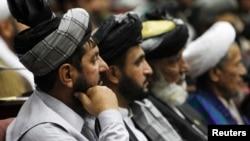 Para anggota legislatif di Afghanistan dalam sebuah pertemuan di parlemen, Kabul. (Foto: Dok)
