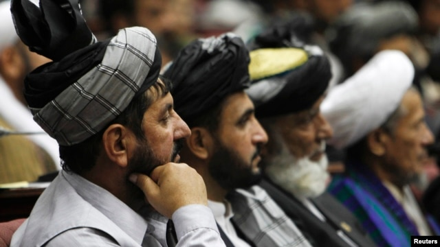 Members of the Afghan legislature are seen at the parliament in Kabul (file photo).