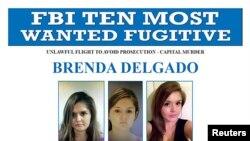El FBI ofrecía una recompensa de $100.000 dólares por la captura de Brenda Delgado.