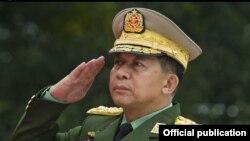 میانمار فوج کے سربراہ من اونگ لائنگ (فائل فوٹو)