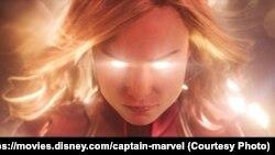 La actriz Annette Bening, cuatro veces nominada al Oscar, aparece como la Inteligencia Suprema en la nueva cinta de Marvel Studios.