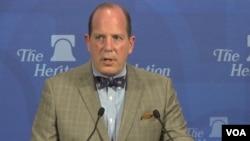 크리스토퍼 포드 미 국무부 국제안보·비확산 담당 차관보가 워싱턴 헤리티지 재단에서 열린 안보 토론회에 참석했다.