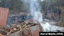 Le train accidenté a fait 33 morts, dans la région minière de Katanga, le 12 novembre 2017. (VOA/Narval Mabila)
