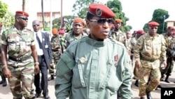 几内亚军政府统治者卡马拉(资料照片)