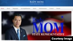 FILE - Rady Mom made history when he won election to become the first Cambodian-American elected to a state legislature. (Screenshot of Rady Mom's website)