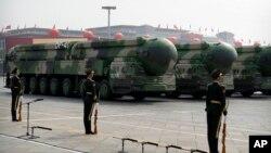 2019 年10月1日中国国庆阅兵式上展示的东风-41弹道导弹