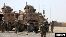 지난 2017년 6월 이라크 모술 서부 인근 기지에 도착한 미군들.