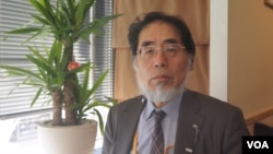 日本時事通信社解說委員鈴木美胜對川普政權下的日美同盟和安保關係前景樂觀(美國之音歌籃拍攝)