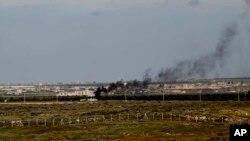 یکی از کمپ های پناه جویان سوری در سرحد بین اردن و سوریه