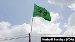 Bendera PPP berkibar di Yogyakarta (foto: VOA/Nurhadi Sucahyo)