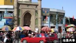 中国新疆维吾尔自治区和田市一清真寺(维基共享图片)