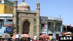 中國新疆維吾爾自治區和田市一清真寺(維基共享圖片)