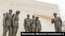 Statue generala Eisenhowera i vojnika uoči Dana D (Ljubaznošću: Eisenhower Memorial Commission)