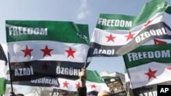 Διαδήλωση στη Τουρκία κατά της κυβέρνησης του σύρου Προέδρου Μπασάρ Αλ Άσσαντ