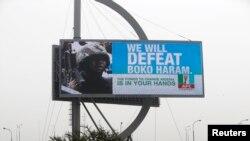 Un panneau d'affichage de la campagne contre Boko Haram