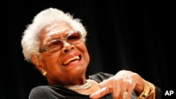 Maya Angelou in Washington, DC last month.