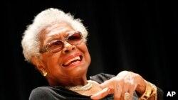 Maya Angelou in Washington, DC last month.