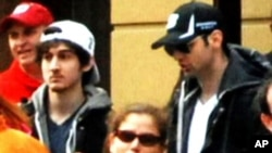 波士頓馬拉松賽連環爆炸案嫌疑人薩納耶夫兄弟。