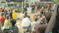 2011-10-04 美國之音視頻新聞: 反華爾街抗議活動正在壯大