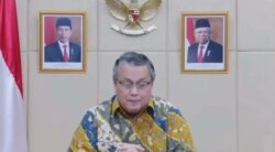 Gubernur Bank Indonesia (BI), Perry Warjiyo, Jumat 20 Agustus 2021, (Foto: VOA/Anugerah Andriansyah)