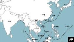 南中國海航道圖