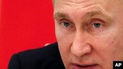 俄罗斯总统普京在克里姆林宫 (2016年1月21日)
