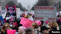 تظاهرات زنان در شهر واشنگتن - ۲۹ دی ۱۳۹۷