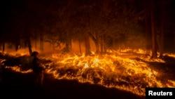 L'incendie King Fire, qui dure depuis des jours, n'est maitrisé qu'à 35 % (Reuters)