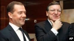 Дмитрий Медведев и Жозе Мануэл Баррозу. Москва, Россия. 21 марта 2013 г.