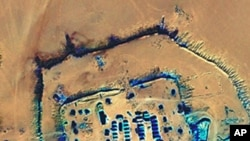Satellite image of a camp in Darfur