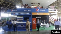 At the annual Havana International Fair, Cuba's first trade fair since ties were reestablished with the United States The U.S. pavilion includes an exhibit for Pepsi Cola, Nov. 2, 2015. The island nation is seeking more foreign investment.