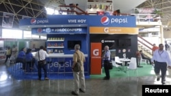 At the annual Havana International Fair, Cuba's first trade fair since rapprochement with the United States, the U.S. pavilion includes an exhibit for Pepsi soda, Nov. 2, 2015. The island nation is eager for more foreign investment.