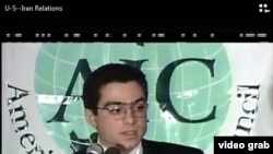 FILE - Siamak Namazi, an American held in Iran since 2015, is shown in an image taken from video. His attorney has said a detainee held in the same prison ward with Namazi was diagnosed with the coronavirus and was removed.