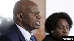 Zimbabwe's Finance Minister Patrick Chinamasa proposed animals, cars and other items be used by small businesses to secure loans. (File photo)