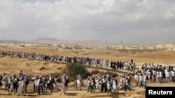 La marche des femmes israéliennes et palestiniennes, près du fleuve Jourdain, Cisjordanie occupée, le 8 octobre 2017.