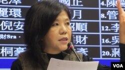 台湾在野党民进党立委叶宜津(美国之音张永泰拍摄)