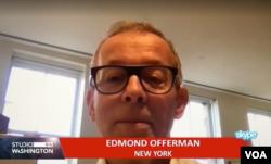 Arhiv - Edmond Offerman razgovara sa novinarom Glasa Amerike