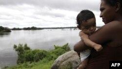 Sông Xingu ở bộ lạc Araras, gần Altamira, bắc Brazil
