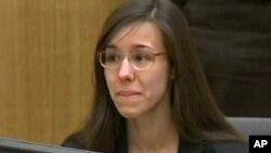 Jodi Arias captada durante el juicio en el que se le encontró culpable de asesinato premeditado.
