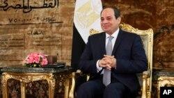 Le président égyptien Abdel Fattah al-Sissi, 20 avril 2017u.