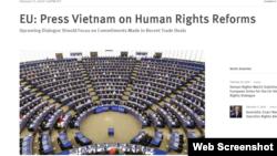 Tư liệu: HRW kêu gọi EU gây sức ép để Việt Nam cải cách nhân quyền, ngày 18/02/2020. Photo HRW