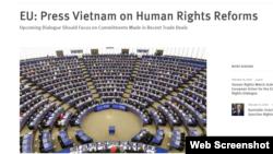 HRW kêu gọi EU gây sức ép để Việt Nam cải cách nhân quyền, ngày 18/02/2020. Photo HRW