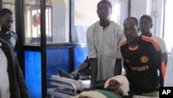 폭탄 공격으로 부상을 입은 피해자가 무하마드 전문 병원으로 긴급 후송 되어 응급 치료를 받고있다.