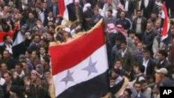 敘利亞反政府抗議者星期五舉行抗議活動