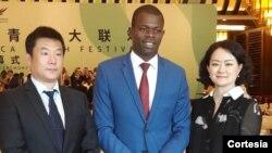 Presidente do CNJ de São Tomé e Príncipe, Calisto do Nascimento, em visita à China