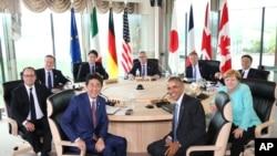 G-7 ထိပ္သီးစည္းေ၀းပြဲ တက္ေရာက္ေနသည့္ ေခါင္းေဆာင္မ်ား။