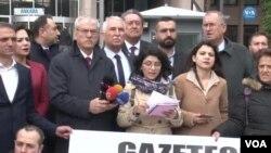 Türkiye'nin Libya'da yürüttüğü operasyonda hayatını kaybeden MİT mensubuyla ilgili bilgileri ve Edirne'de sınırdaki mültecilerle ilgili gelişmeleri haberleştirdikleri için gazeteci tutuklamaları yapılmasına karşı, Ankara'yla birlikte beş ilde Mart ayında eş zamanlı protesto eylemi yapıldı