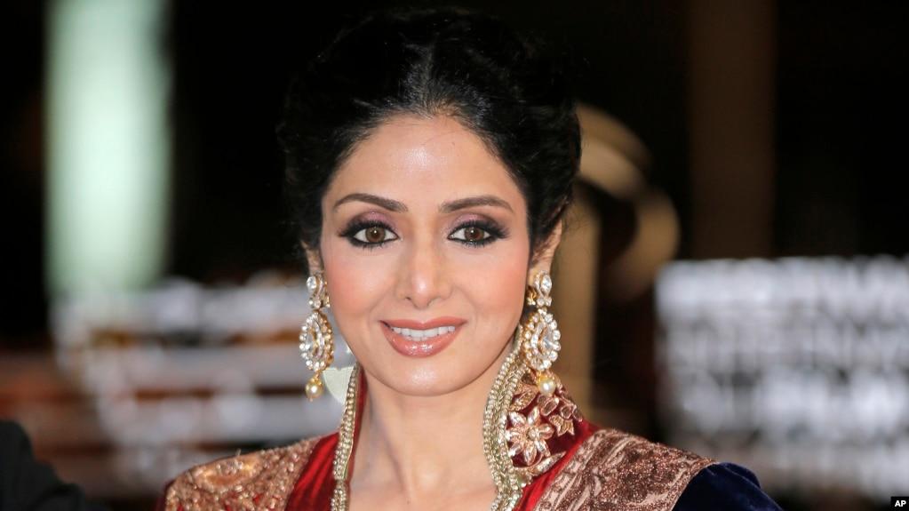 Indian actress Sridevi arrives at the Marrakech International Film Festival in Marrakech, at the Marrakech