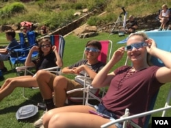 Some of the people who watched the total solar eclipse at Central Park, Greenville, South Carolina on Monday.