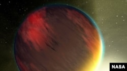 Artist rendering of the exoplanet HD 189733b.